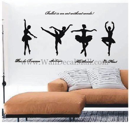 Ballet Is An Art Without Words Wall Decals – WallDecalMall.com
