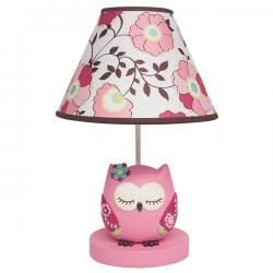 Pink Fl Sleeping Owl Lamp Base Shade Baby Nursery Lamps Pinterest Cribs And