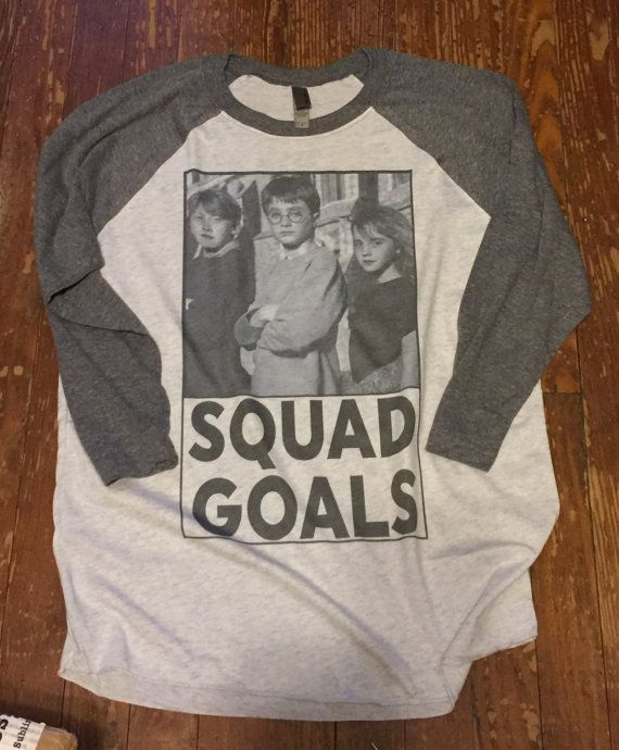 Harry Potter #squadgoals ringer tee. Great for nights at harry potter world :)
