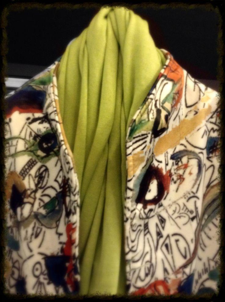 Giacca Enrica tessuto Kandinsky