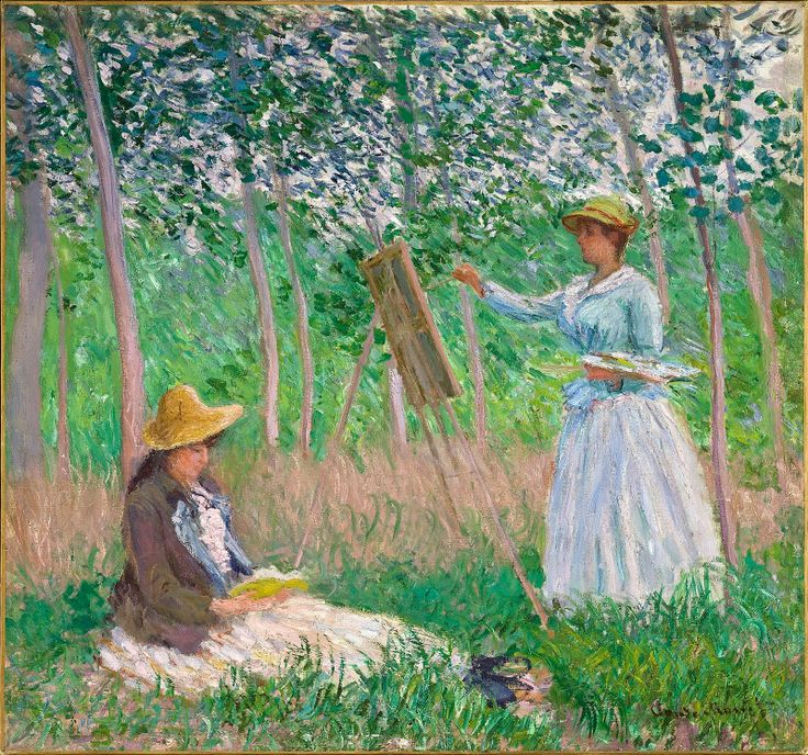 Ferenczy, Károly Claude_Monet_In_the_Woods