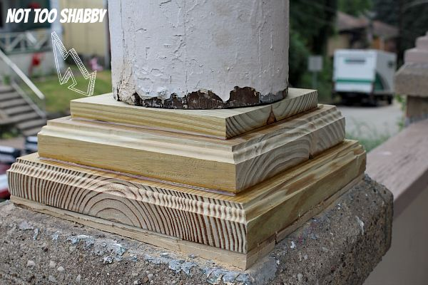 Make Porch Column Bases from Pressure Treated Lumber...Save Money & Learn Carpentry!!