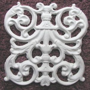 plaster mold victorian grill tile