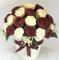 Arreglo floral de cupcakes