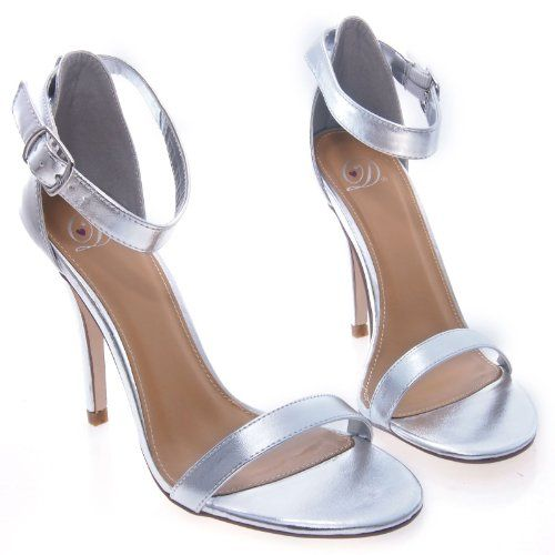 ChaCha silver strappy prom shoes 2014