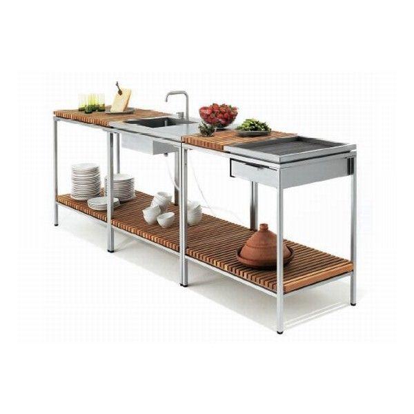Viteo Minimalist Outdoor Kitchen / Home Trends | Decoration |... ❤ Liked On