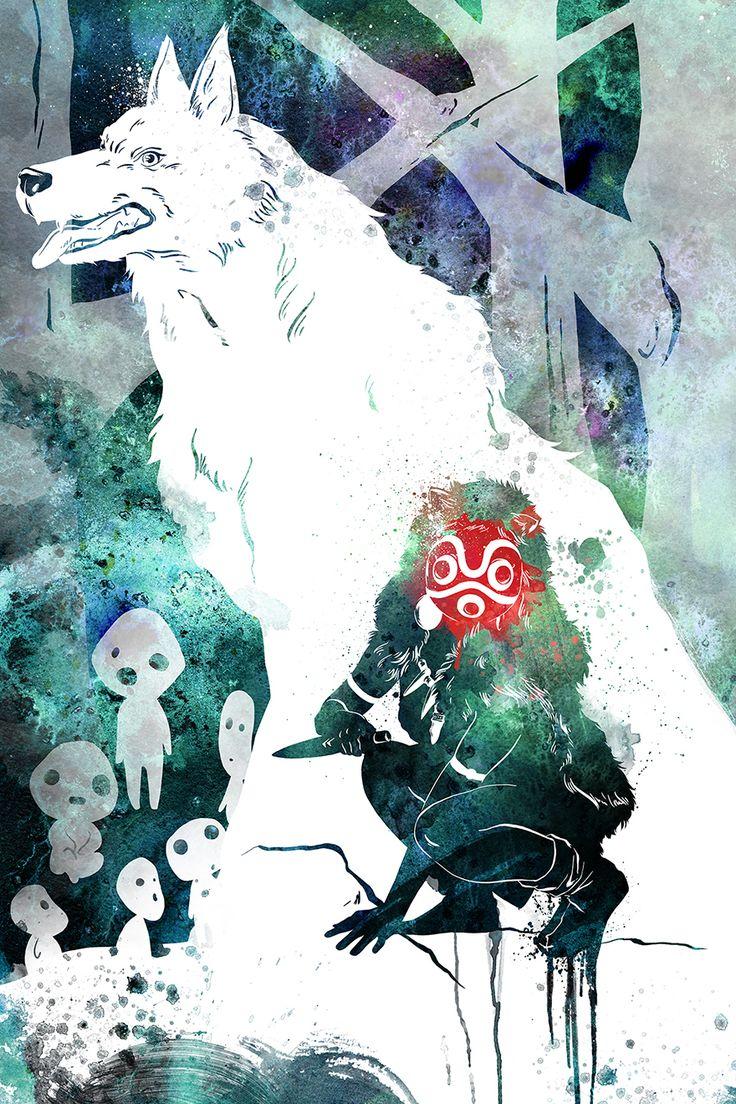 Princess Mononoke fan-art by Penelope Paws