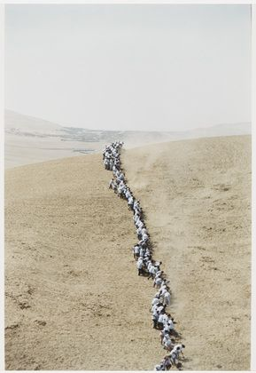 Francis Alÿs. Untitled, from When Faith Moves Mountains. 2002. Color photograph. The Museum of Modern Art, New York. Gift of The Spey...