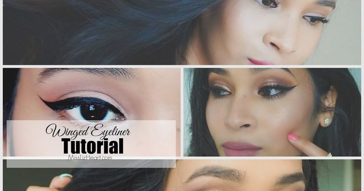 Winged eyeliner, how to