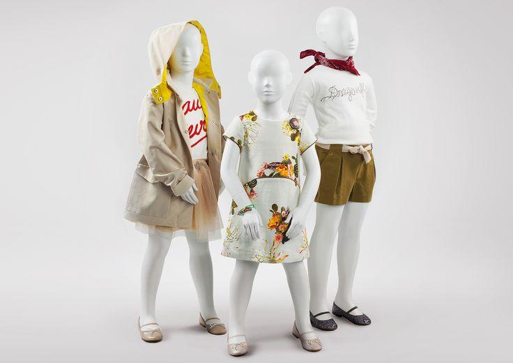 COCO KIDS - Semi-abstract children mannequins. Full of mischief and charm. #MoreMannequins #WindowDisplay #junior