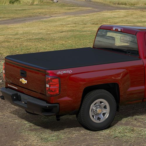 2016 #Silverado 1500 Soft Roll-Up #Tonneau Cover- 8' Box: This Soft Roll-Up Tonneau Cover is constructed of durable, lightweight black grained vinyl to help protect truck bed cargo from the elements.