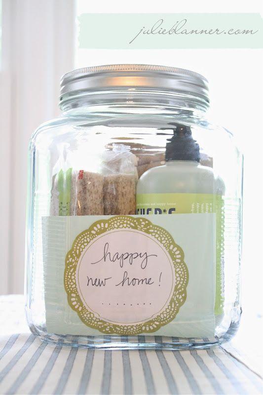 Housewarming gift in a jar via www.julieblanner.com