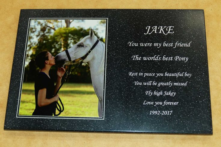 Custom engraved and printed memorial plaques. Upload your photo and text details with your order. Layout is prepared and emailed for you to review