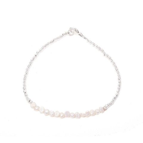 CATHERINE WEITZMAN Silver and Pearl Bracelet – KAVUT