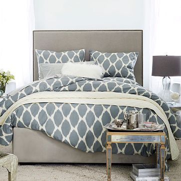 Tall Upholstered Nailhead Pivot Storage Bed Westelm