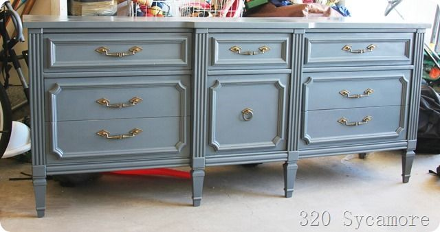 how to spray paint a dresser - 320 * Sycamore
