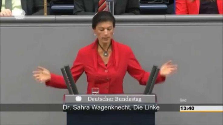 Скандал в Бундестаге. Сара Вагенкнехт обвинила Меркель и Обаму в разжига...