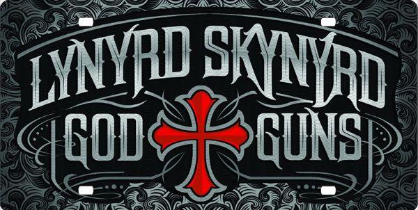 Lynyrd Skynyrd God and Guns, License Plate, License Tag, Novelty ...