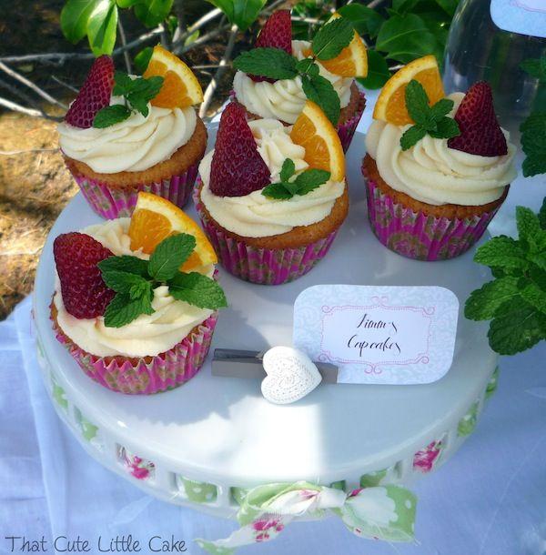 {Recipe} Pimm's Cupcake   Pimm's Cupcake recipe   Cuptail   That Cute Little Cake