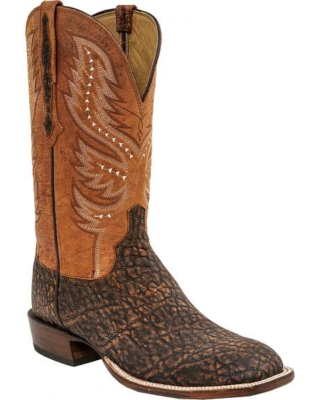 Outlet Wide Range Of Old West 9 Inch Broad Square Toe Cowboy Boot(Men's) -Light Distressed/Blue Crunch Leather Shopping Online Cheap Online Outlet Prices Outlet Low Price OKfsPnH8