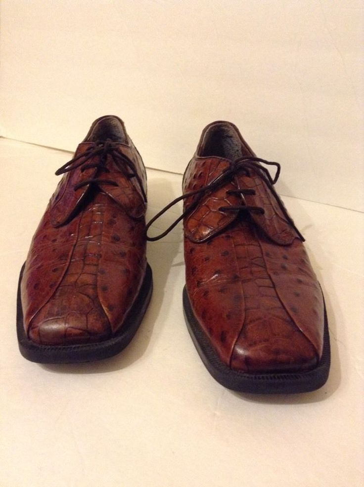 Stacy Adams Men's Brown Leather Shoes 10 Medium M | eBay