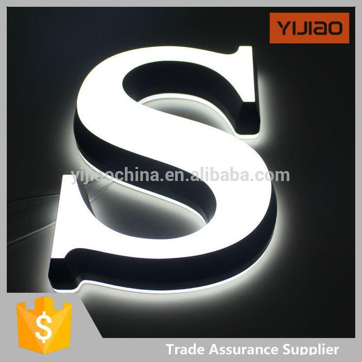illuminous logo led double side lighting acrylic channel letter sign