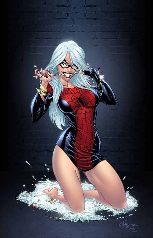 Black Cat by J. Scott Campbell | Comic Book Pinups | Pinterest
