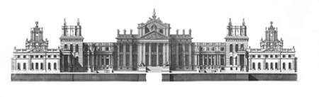 Elevation, North Front Blenheim Palace