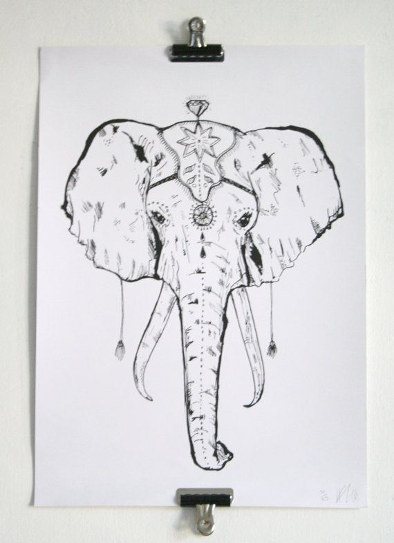 A3 Circus Elephant Screen Print *ON SALE*