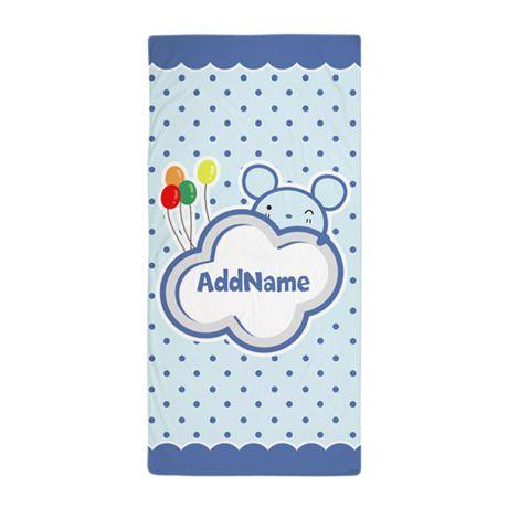 Custom Name Gifts for Kids Beach Towel
