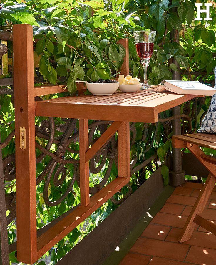 Good Mit diesem Balkonklapptisch wird der meist wenige Platz auf dem Balkon optimal genutzt balkon YorkshireGarden