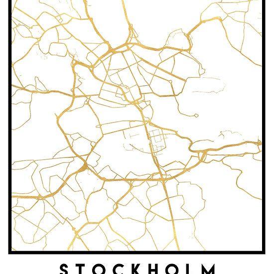 Best City Street Map Art Images On Pinterest - Sweden map coordinates