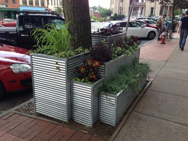 Another cool planter idea - made from corrugated metal and angle iron. & 15 best galvanized planters images on Pinterest | Galvanized ... Aboutintivar.Com
