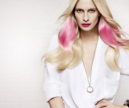 """OH SO PRETTY IN HOT PINK haircolor, updated ombre look...for your inner muse - L'Oreal Professional's """"Pink Splashlight"""""""