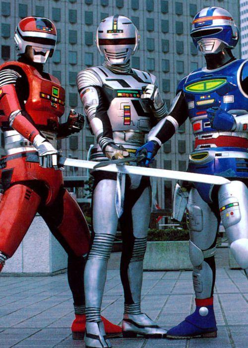The three Space Sheriffs - Sharivan, Gavan, and Shaider