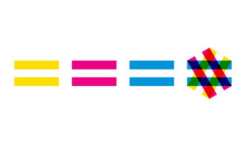 7th Zagreb Jewish Film Festival  Colourful idea by Mirko Ilić to symbolise equality, and to form the Star of David.