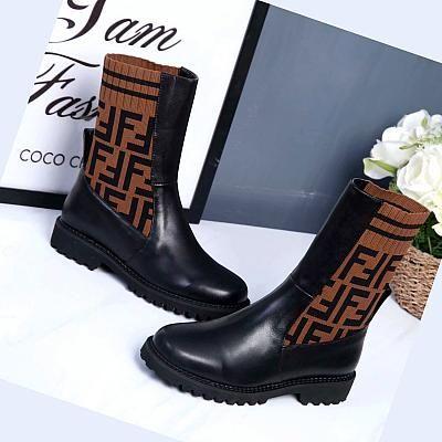 Fendi Ankle Knit Flat Boot Fendi Boots Boots Fendi Shoes