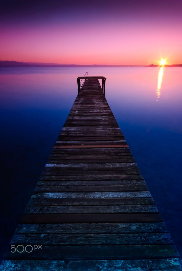 Blue sunrise on Lake Garda by JoseG MS