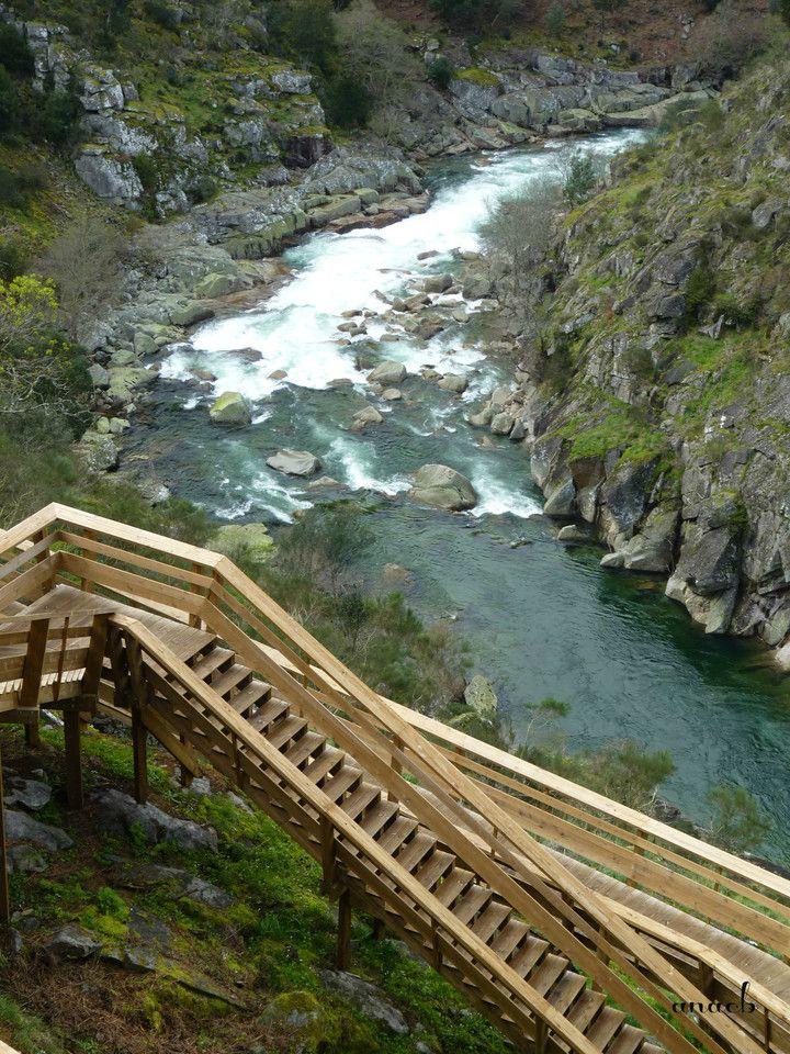 Passadiços do Paiva - stairs and the river Paiva