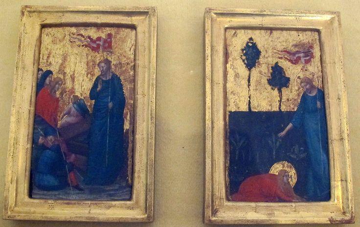 Pietro da rimini, resurrezione e noli me tangere, 1325