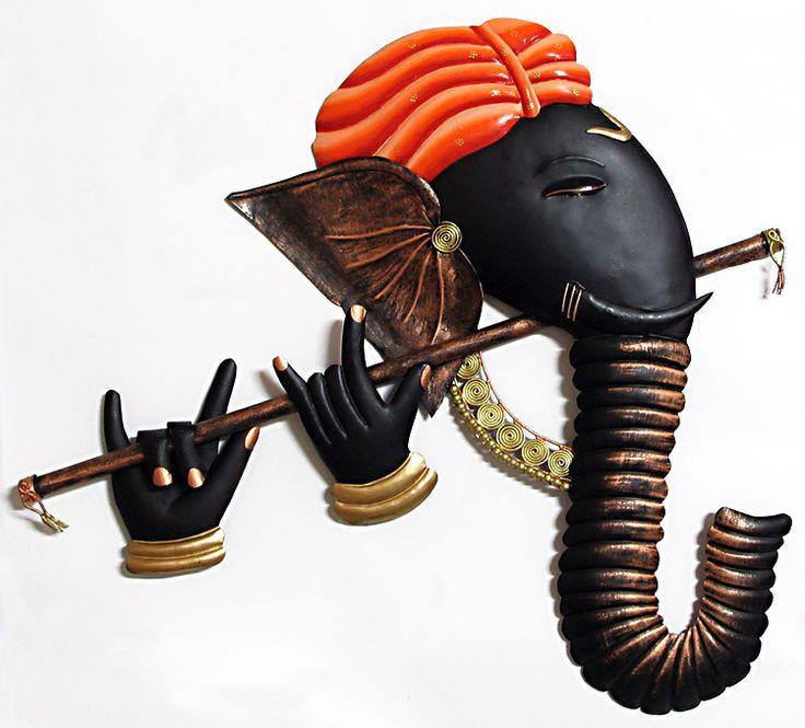 Murlidhar Ganesha - Iron Craft Wall Hanging for Home Decor