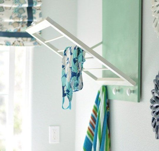 OOO perfect for small spaces DIY Laundry Room Drying Rack — Centsational Girl