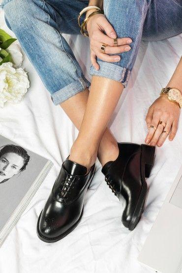 NEW! Pantofi Oxford by BENAZA din Piele Naturală