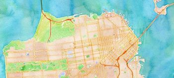 Could Apple be about to ditch Google maps in the next iOS update? A supposedly leaked image of a map claimed to be from iOS 6 has appeared. The image is from the Watercolor tiles for OpenStreetMap