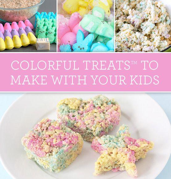 Easter Marshmallow TreatsTM Using Just The Yellow Peeps To Make YELLOW School Bus Krispy Holiday FoodsHoliday RecipesHoliday