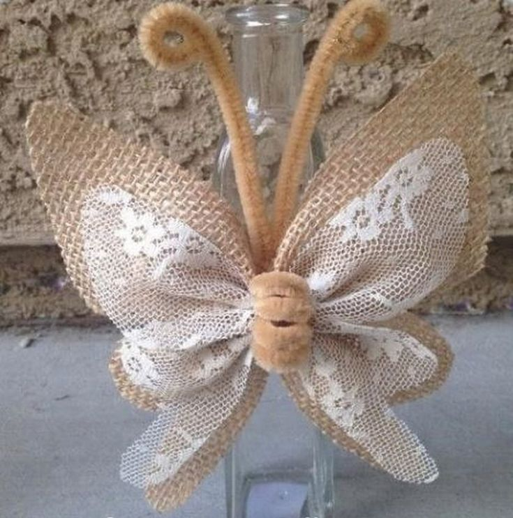 Красота из природы: бабочка из мешковины. 11 нереальных ...