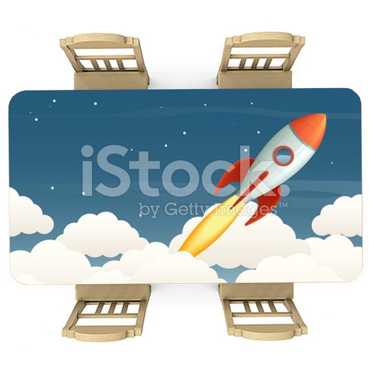 Tafelsticker Op ruimte reis | Maak je tafel persoonlijk met een fraaie sticker. De stickers zijn zowel mat als glanzend verkrijgbaar. Geschikt voor binnen EN buiten! #tafel #sticker #tafelsticker #uniek #persoonlijk #interieur #huisdecoratie #diy #persoonlijk #cartoon #illustratie #raket #ruimteschip #wolken #ruimte #scifi #jongenskamer #jongen