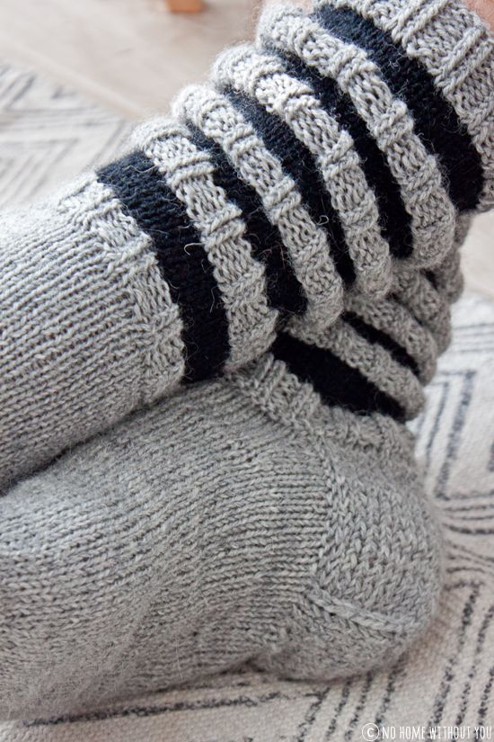 NO HOME WITHOUT YOU » WOOL SOCKS FOR HIM // VILLASUKAT MIEHELLE KOOSSA 44. OHJE.