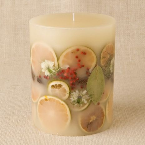 Permalink to Botanical Candles with Fresh Herbs, Fruits, and Flowers