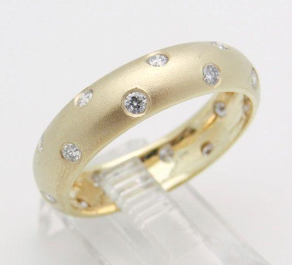 Diamante la eternidad anillo de bodas aniversario por GalaxyGems